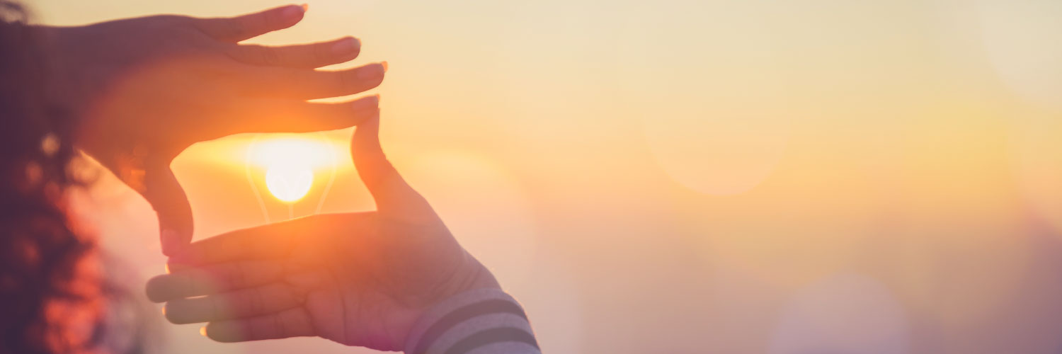 Alexander Group for Sales Decision Support (photo of hands framing sunset)